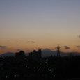 大岡山の夕陽と富士山